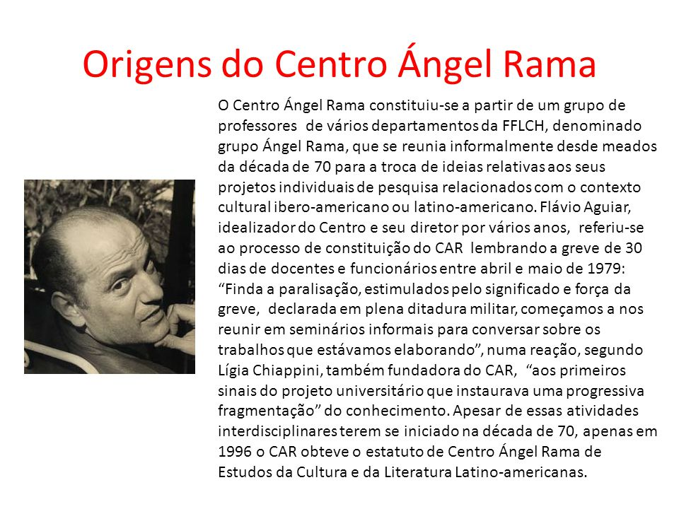 Origens do Centro Ángel Rama