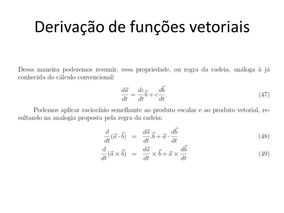 Derivação de funções vetoriais
