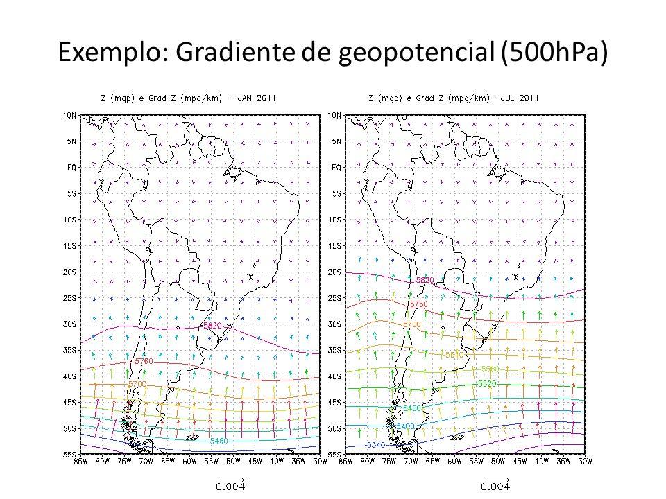 Exemplo: Gradiente de geopotencial (500hPa)