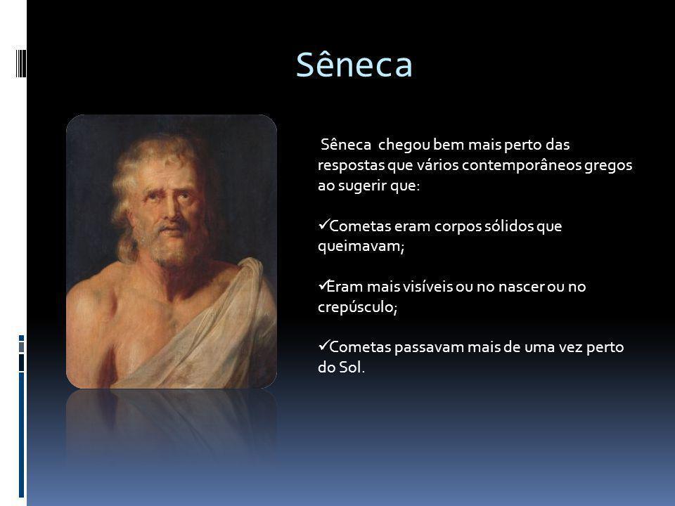 Sêneca Sêneca chegou bem mais perto das respostas que vários contemporâneos gregos ao sugerir que: