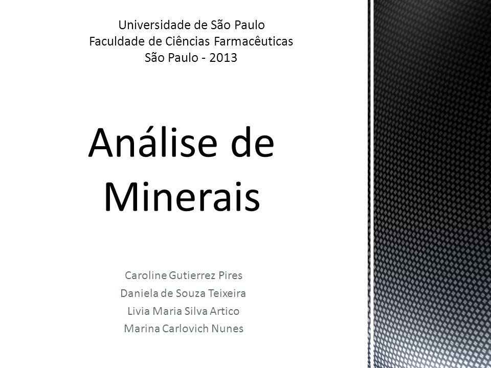 Análise de Minerais Universidade de São Paulo