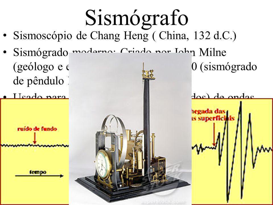 Sismógrafo Sismoscópio de Chang Heng ( China, 132 d.C.)