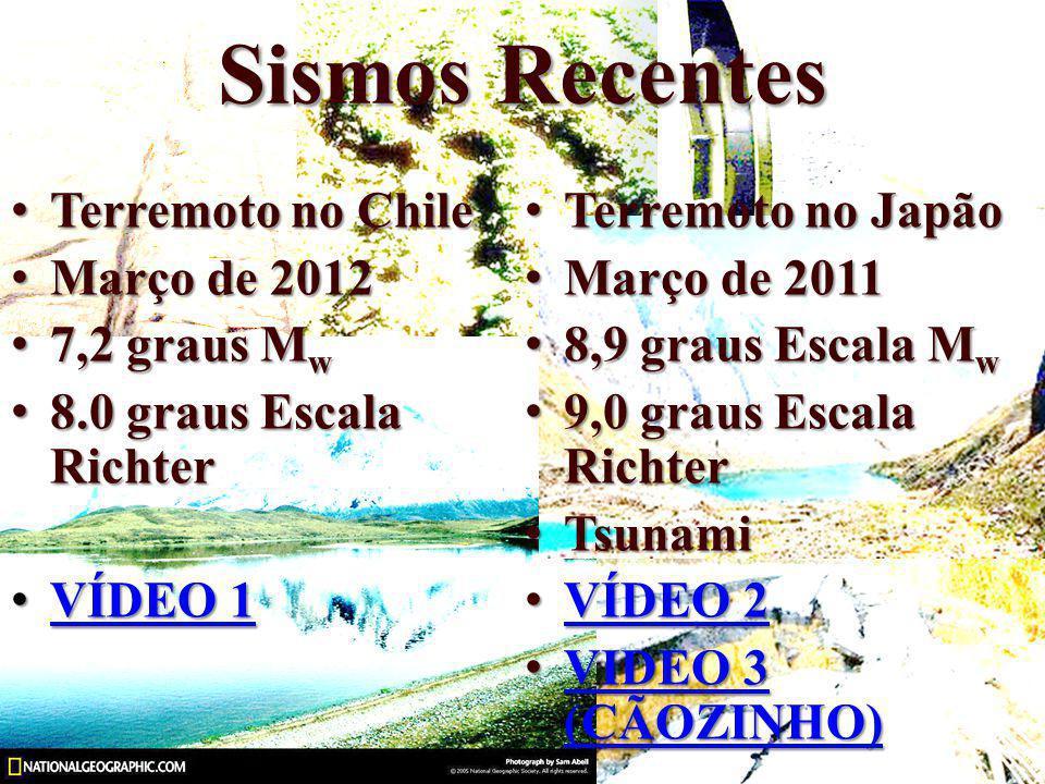 Sismos Recentes Terremoto no Chile Março de 2012 7,2 graus Mw
