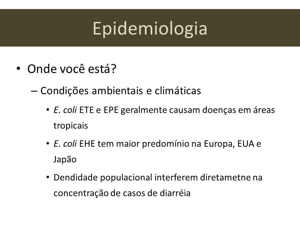 Epidemiologia Onde você está Condições ambientais e climáticas