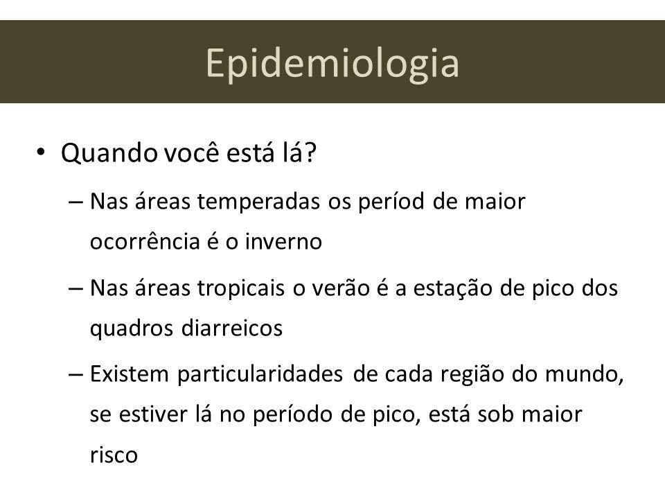 Epidemiologia Quando você está lá