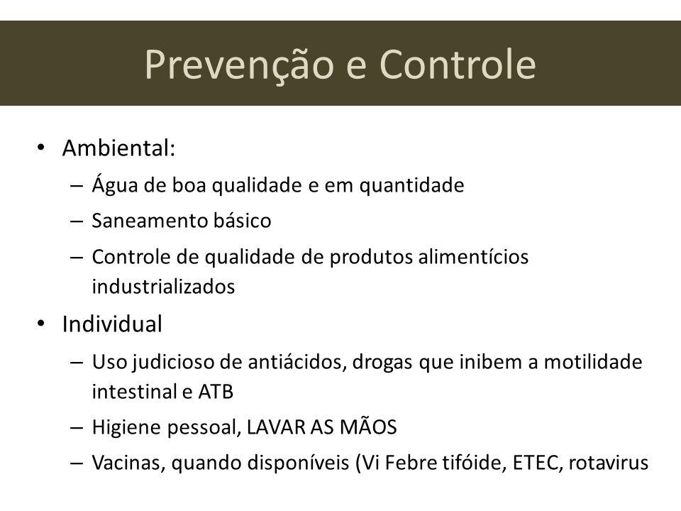 Prevenção e Controle Ambiental: Individual