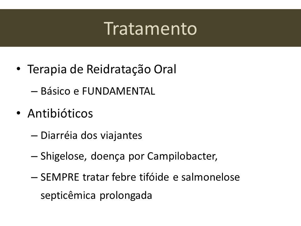 Tratamento Terapia de Reidratação Oral Antibióticos