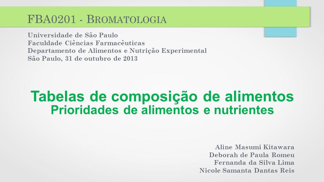 FBA0201 - Bromatologia