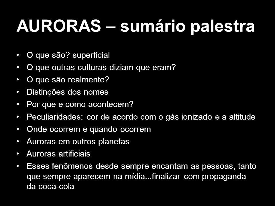 AURORAS – sumário palestra
