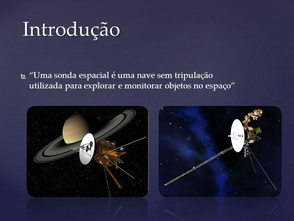 Introdução Uma sonda espacial é uma nave sem tripulação utilizada para explorar e monitorar objetos no espaço