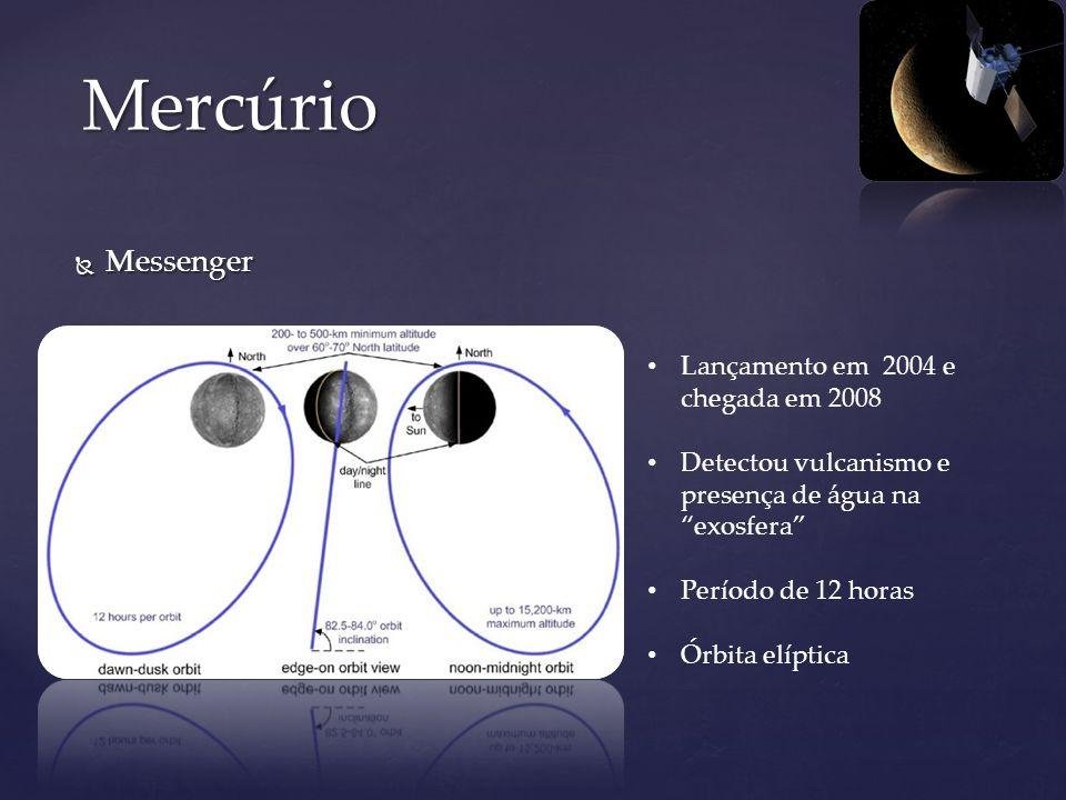 Mercúrio Messenger Lançamento em 2004 e chegada em 2008