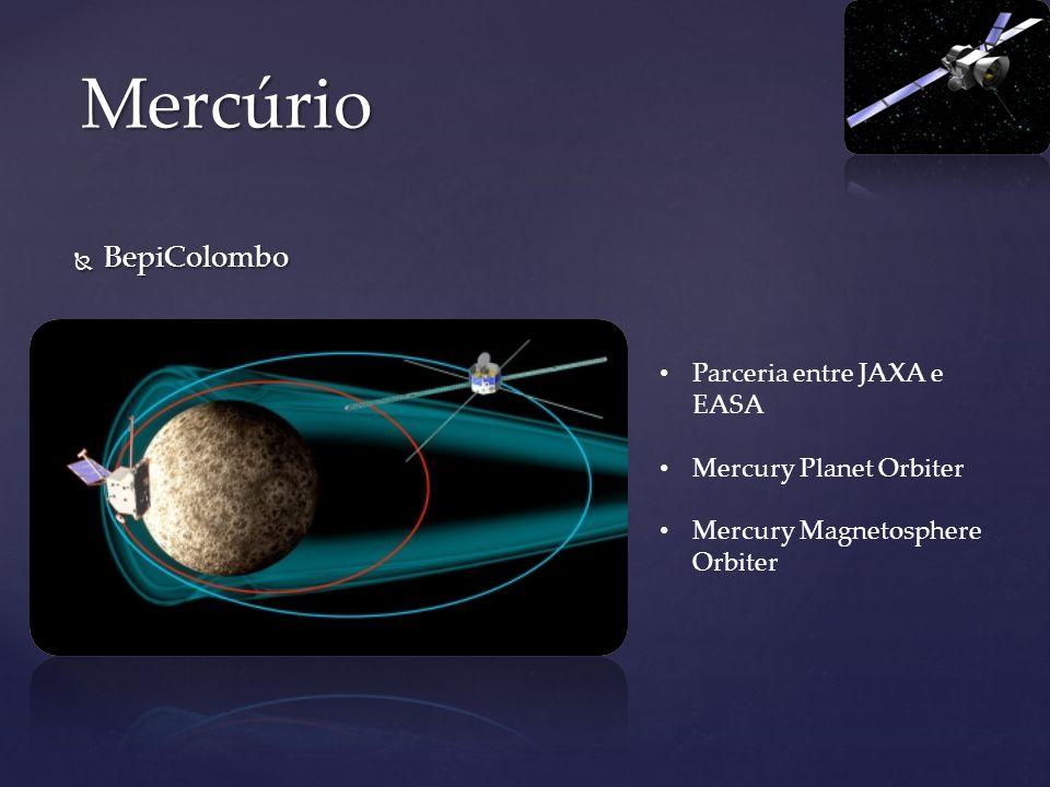 Mercúrio BepiColombo Parceria entre JAXA e EASA Mercury Planet Orbiter