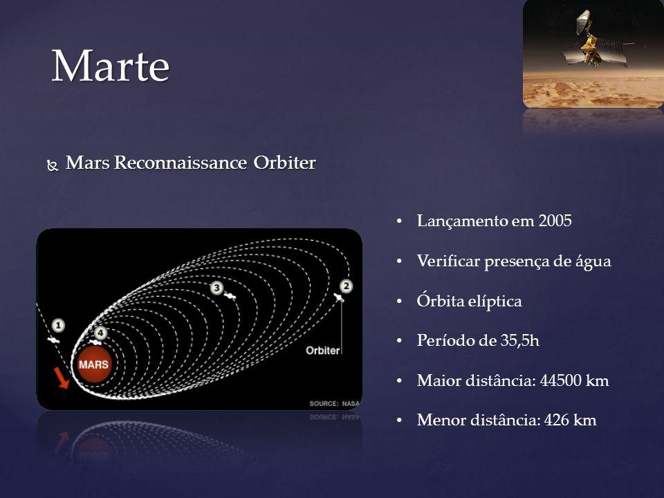 Marte Mars Reconnaissance Orbiter Lançamento em 2005