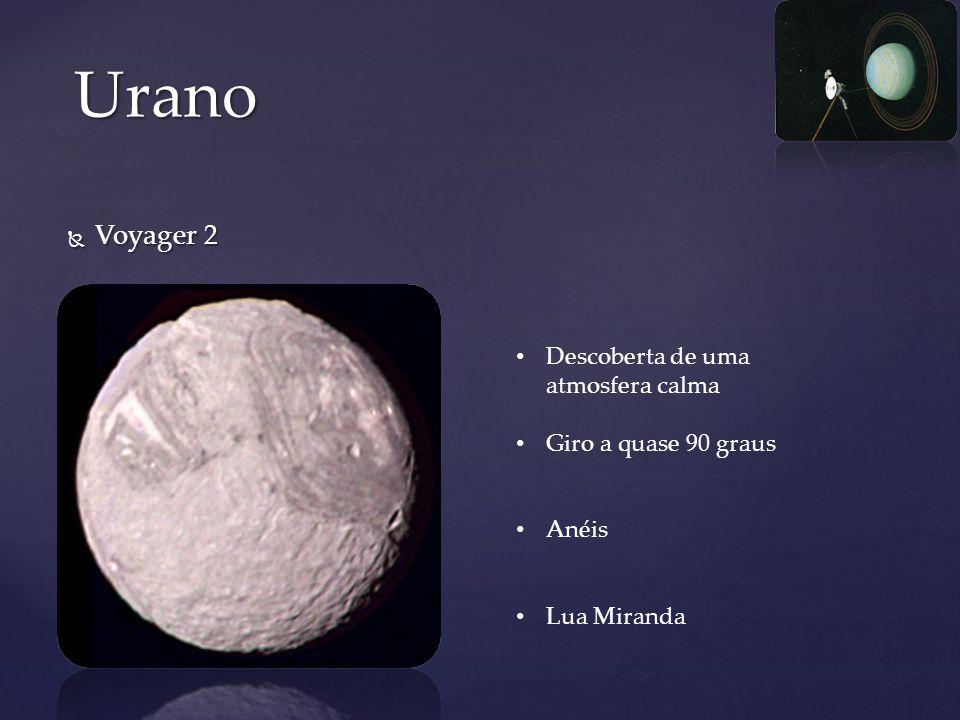 Urano Voyager 2 Descoberta de uma atmosfera calma