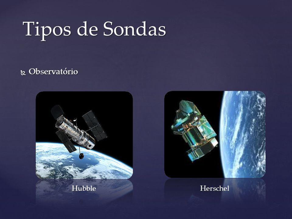 Tipos de Sondas Observatório Hubble Herschel