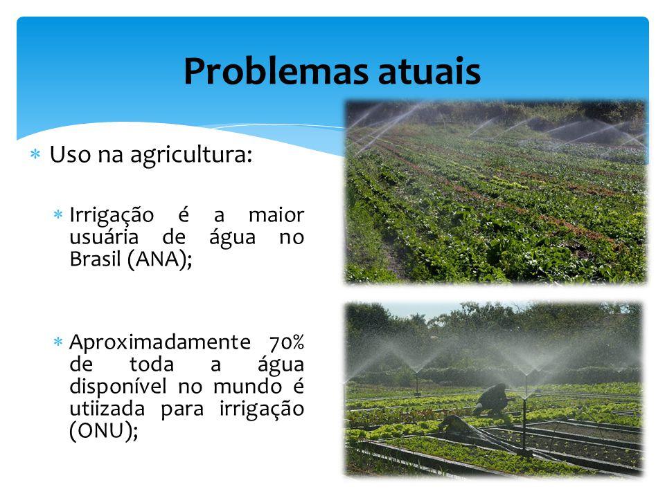 Problemas atuais Uso na agricultura:
