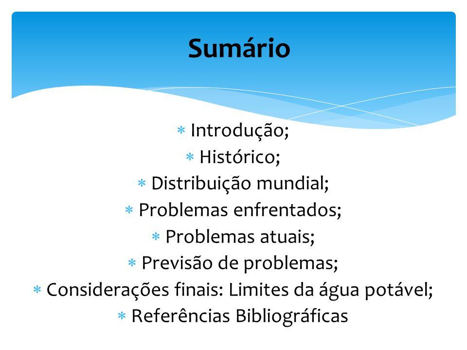 Sumário Introdução; Histórico; Distribuição mundial;