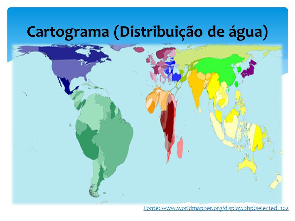 Cartograma (Distribuição de água)
