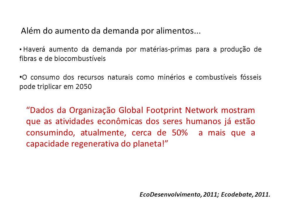 Além do aumento da demanda por alimentos...