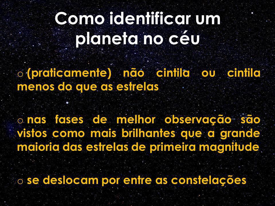 Como identificar um planeta no céu