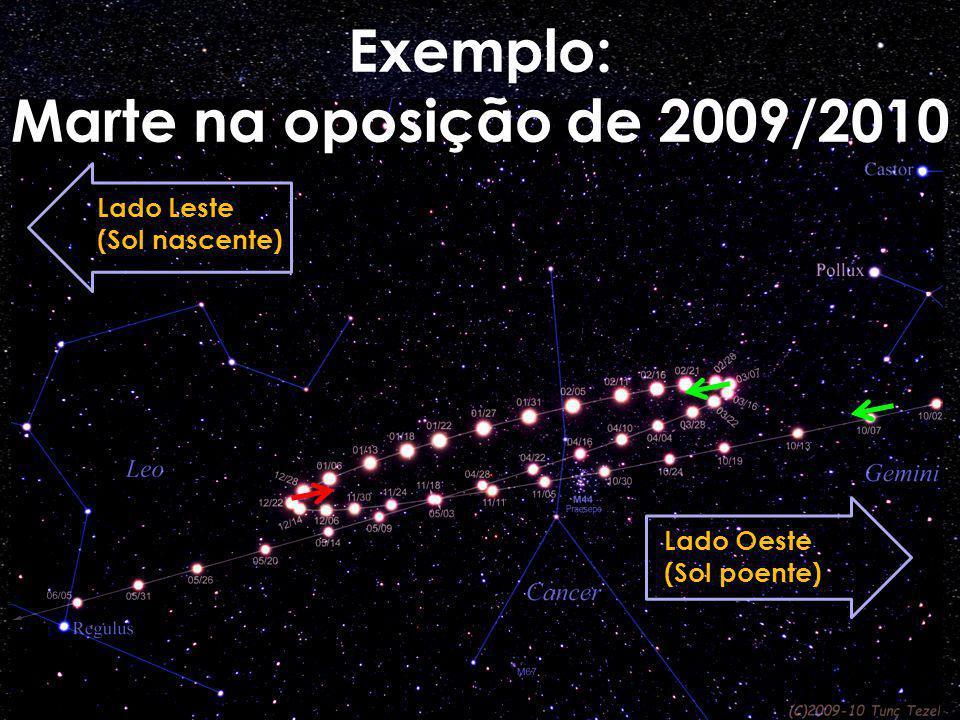 Exemplo: Marte na oposição de 2009/2010