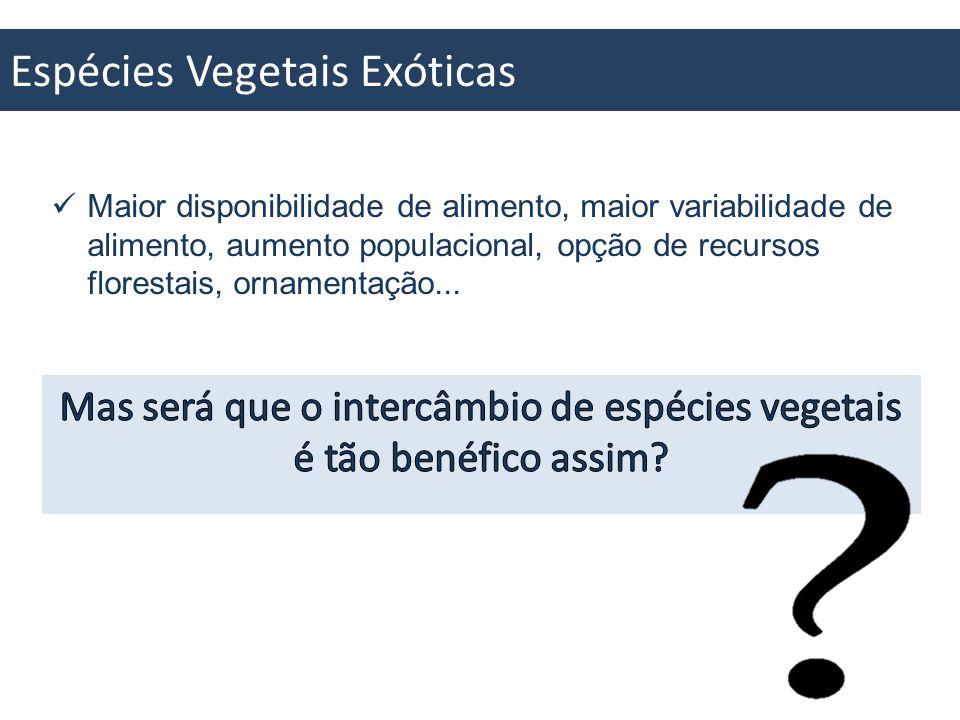 Espécies Vegetais Exóticas