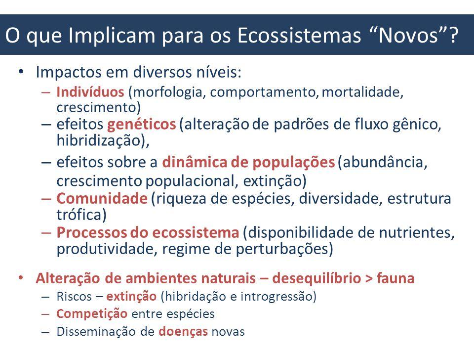 O que Implicam para os Ecossistemas Novos