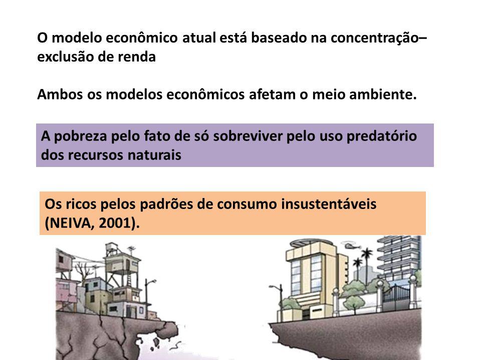 O modelo econômico atual está baseado na concentração–exclusão de renda
