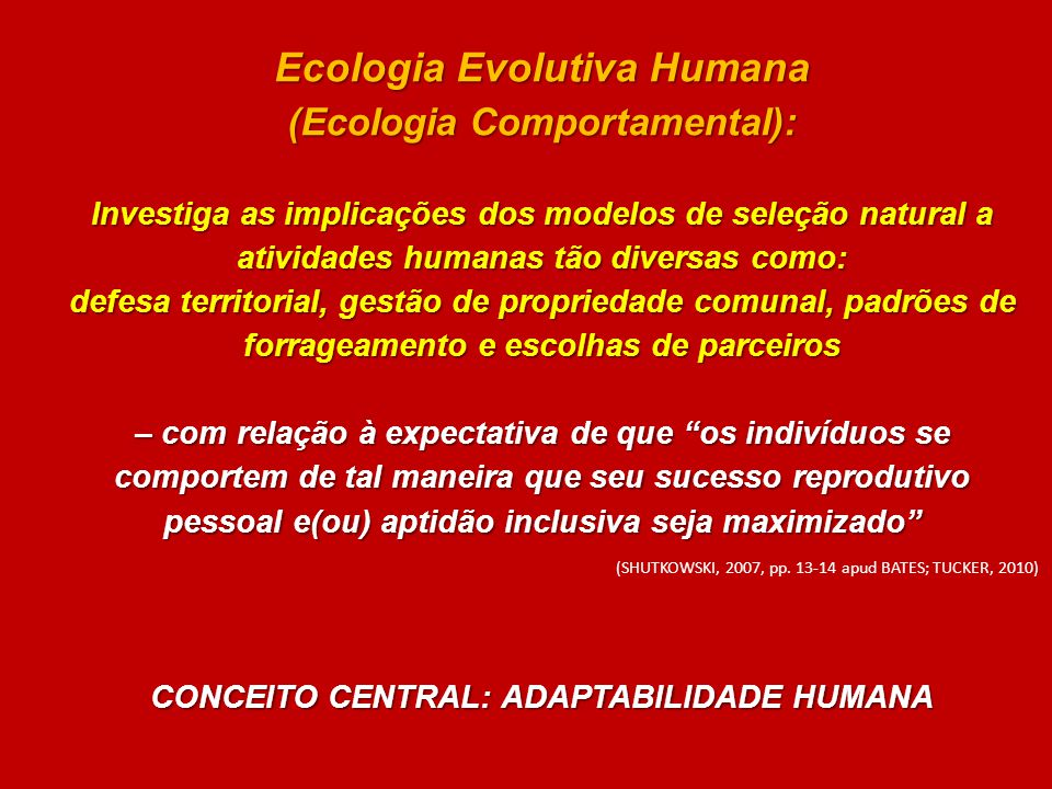 Ecologia Evolutiva Humana