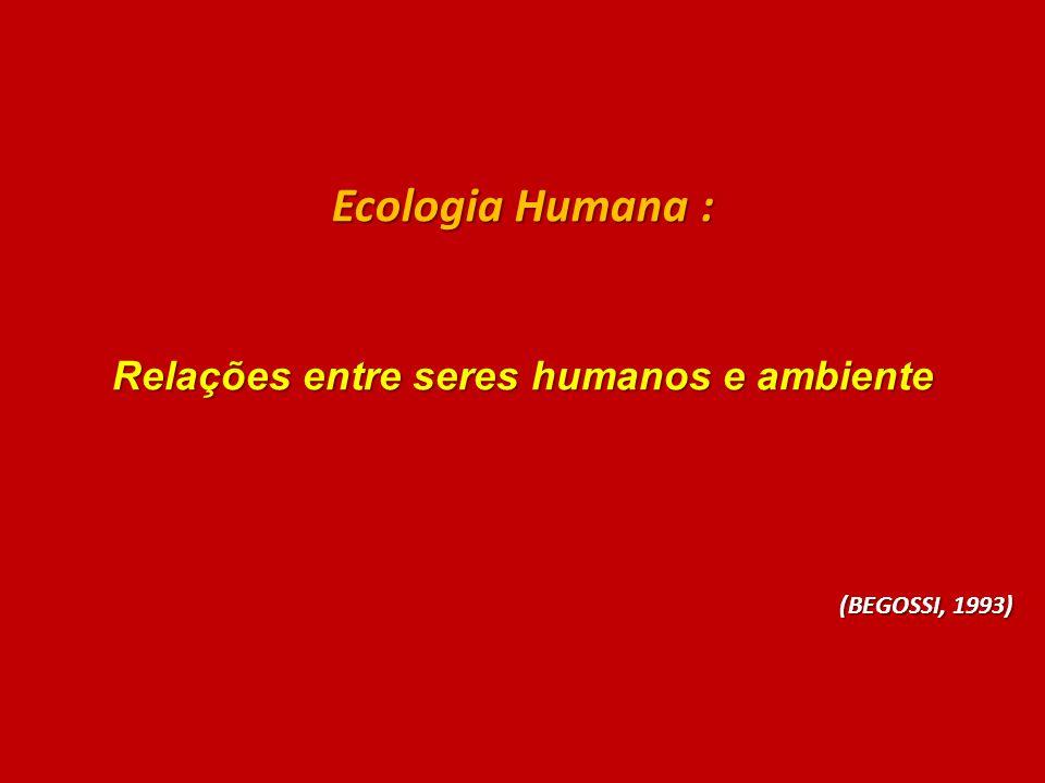 Relações entre seres humanos e ambiente