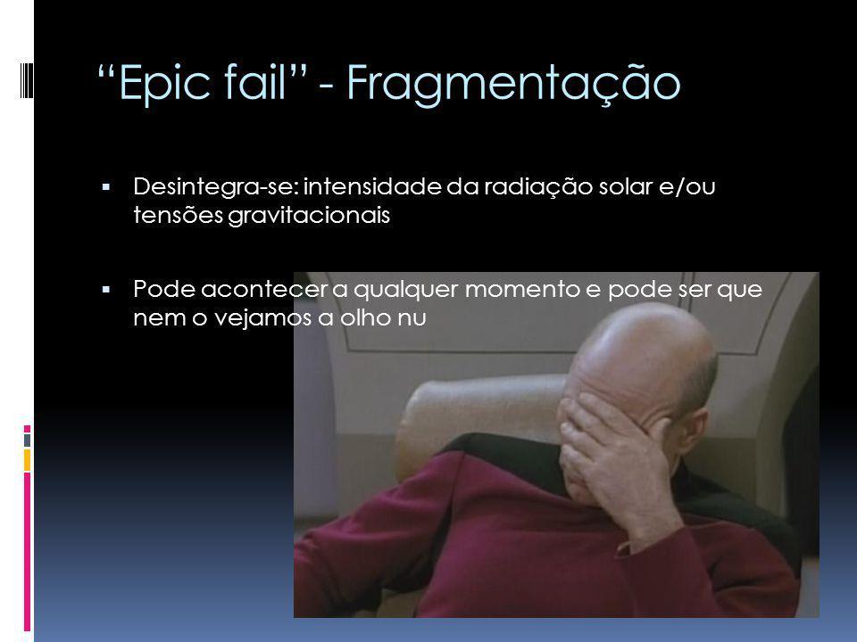 Epic fail - Fragmentação