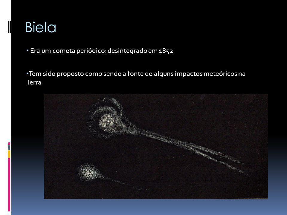 Biela Era um cometa periódico: desintegrado em 1852