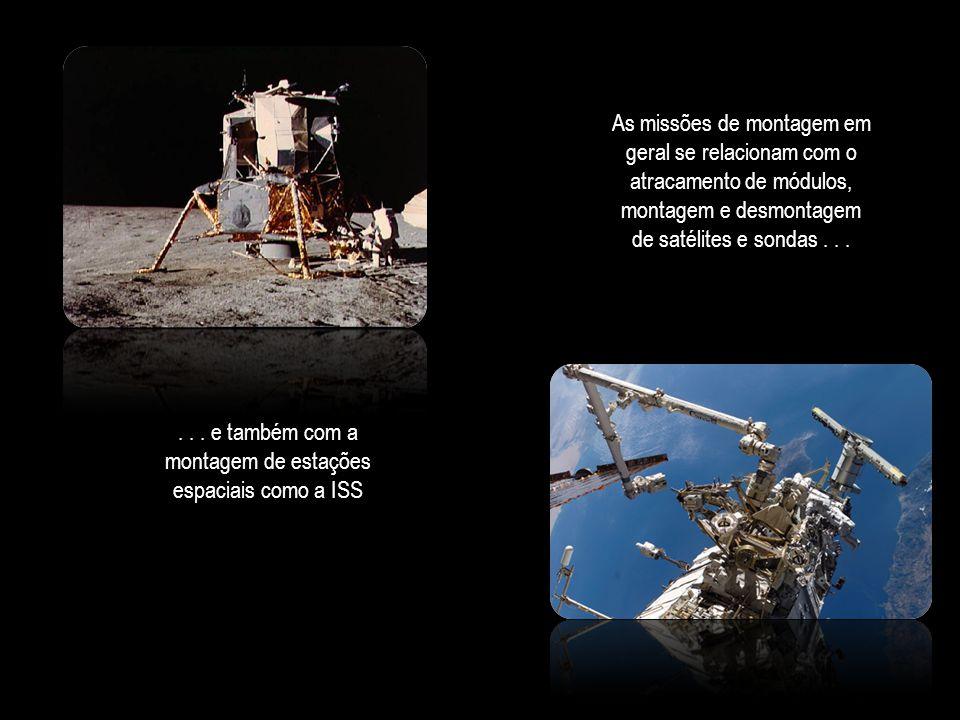 . . . e também com a montagem de estações espaciais como a ISS