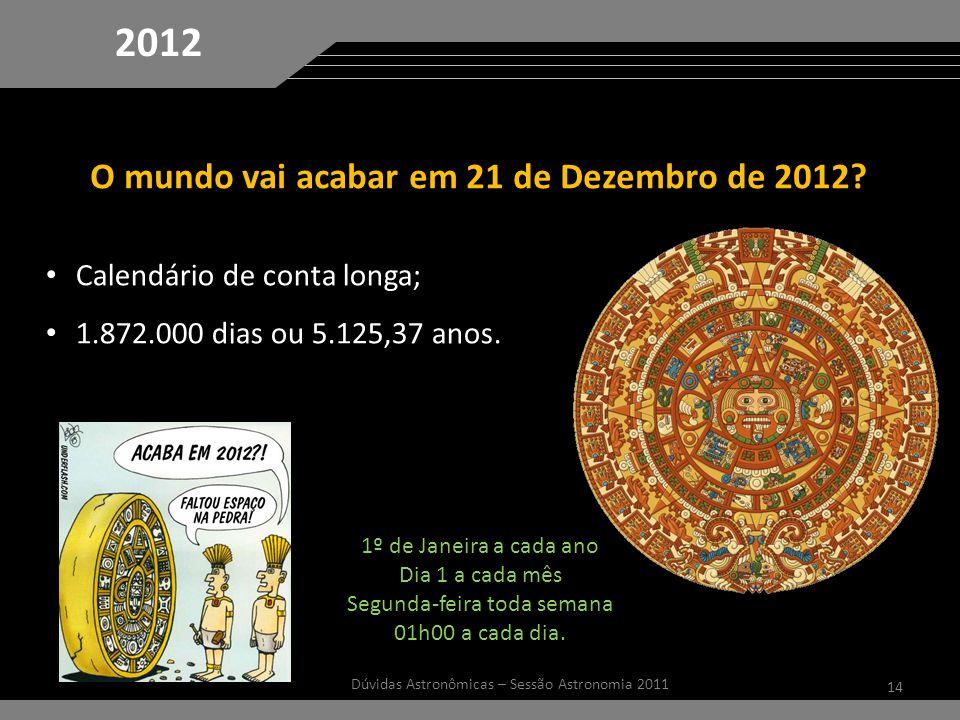 2012 O mundo vai acabar em 21 de Dezembro de 2012