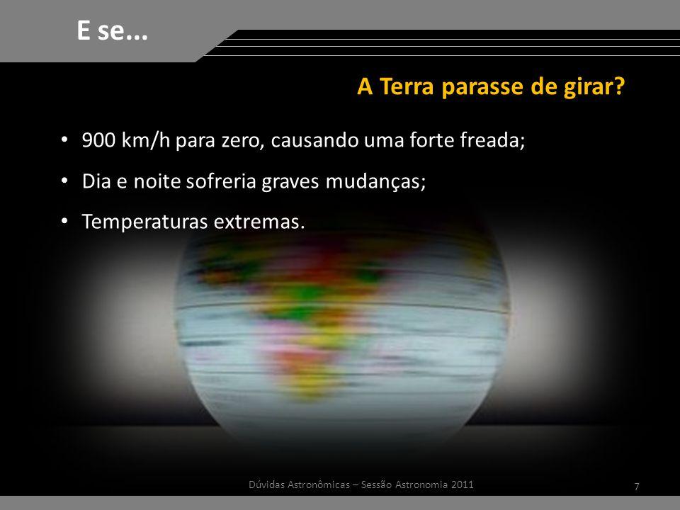 A Terra parasse de girar