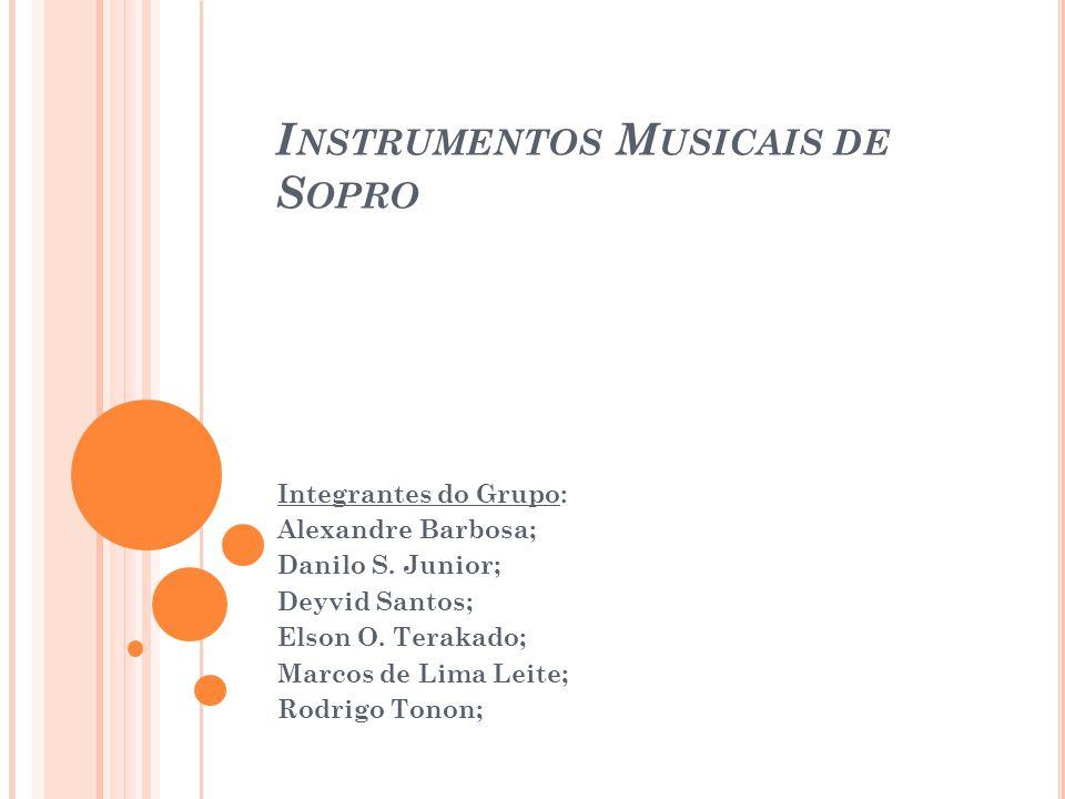 Instrumentos Musicais de Sopro