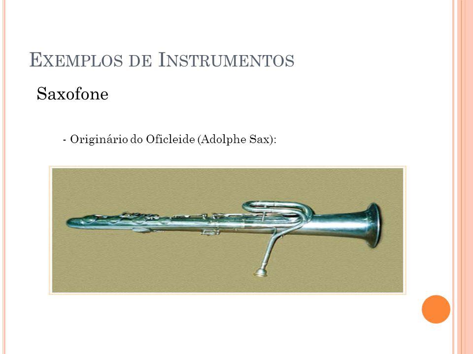 Exemplos de Instrumentos