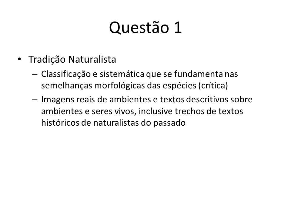 Questão 1 Tradição Naturalista