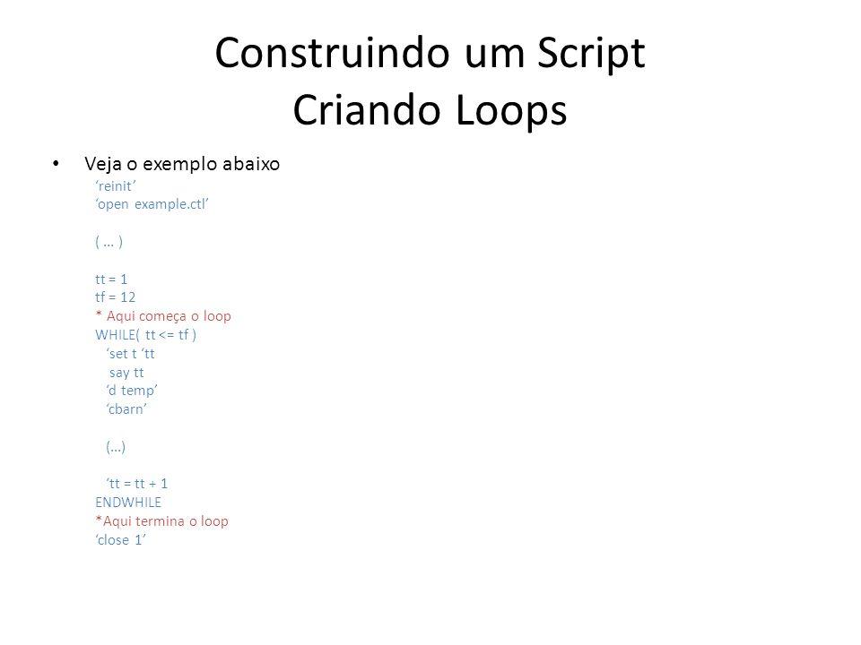 Construindo um Script Criando Loops