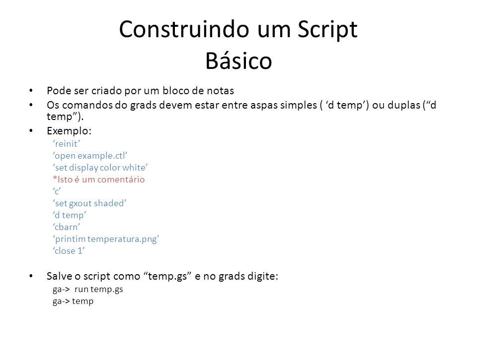 Construindo um Script Básico