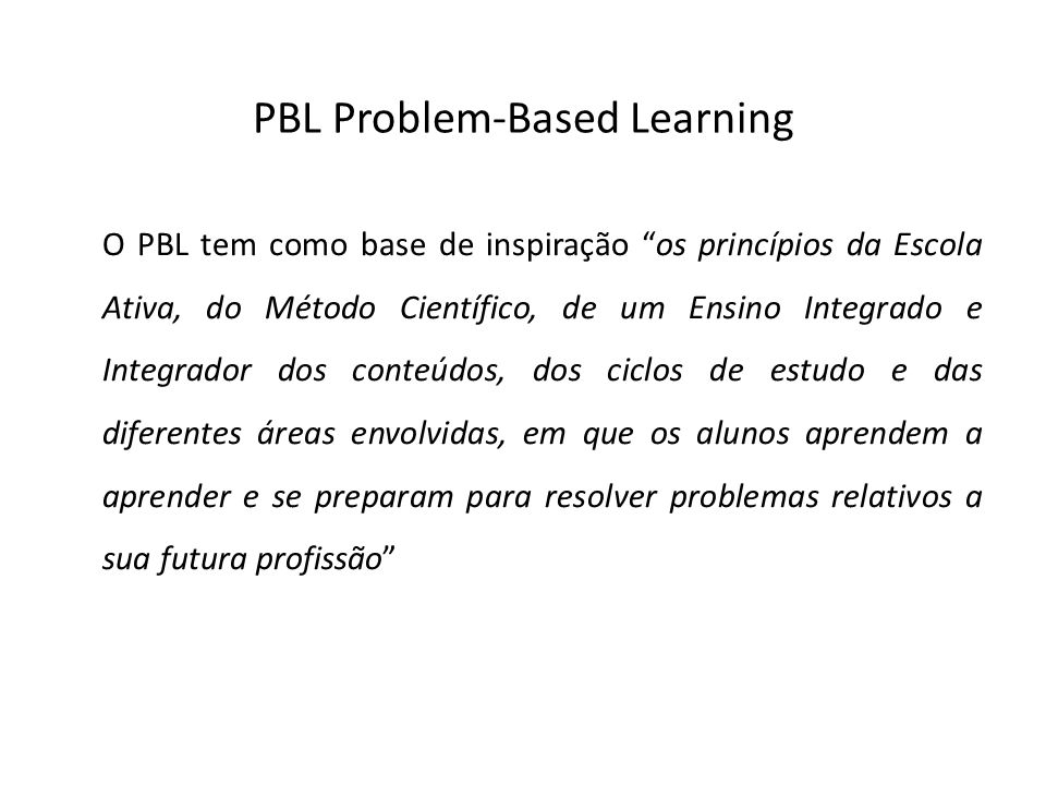 PBL Problem-Based Learning