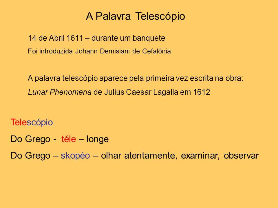 A Palavra Telescópio Telescópio Do Grego - téle – longe