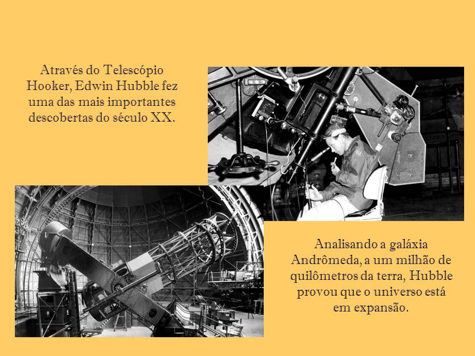 Através do Telescópio Hooker, Edwin Hubble fez uma das mais importantes descobertas do século XX.