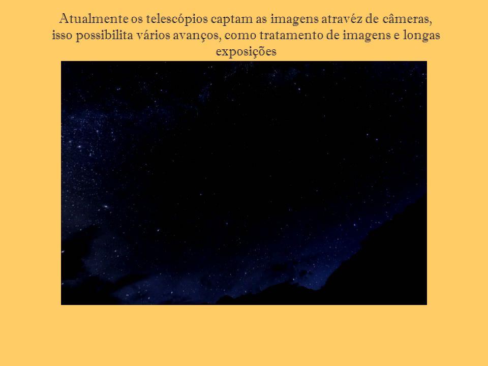 Atualmente os telescópios captam as imagens atravéz de câmeras, isso possibilita vários avanços, como tratamento de imagens e longas exposições