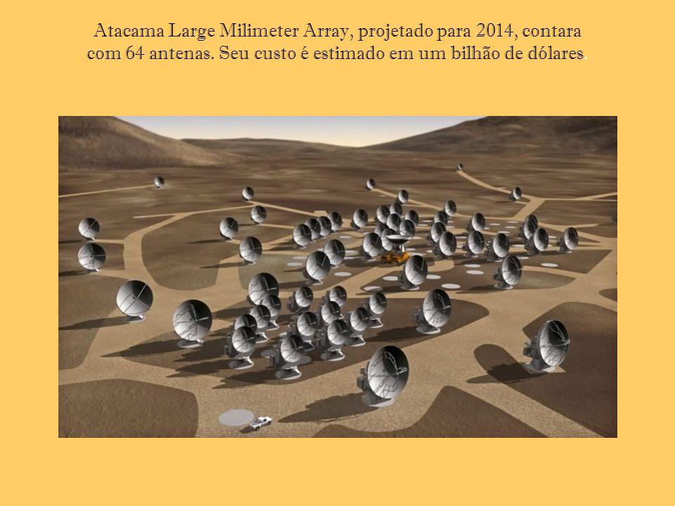 Atacama Large Milimeter Array, projetado para 2014, contara com 64 antenas.