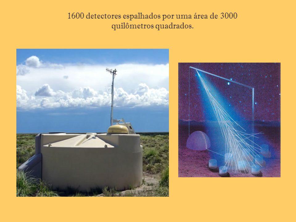 1600 detectores espalhados por uma área de 3000 quilômetros quadrados.