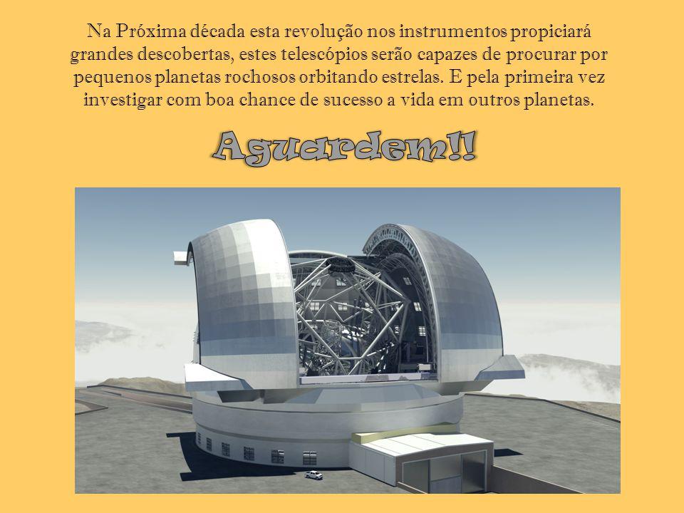 Na Próxima década esta revolução nos instrumentos propiciará grandes descobertas, estes telescópios serão capazes de procurar por pequenos planetas rochosos orbitando estrelas. E pela primeira vez investigar com boa chance de sucesso a vida em outros planetas.