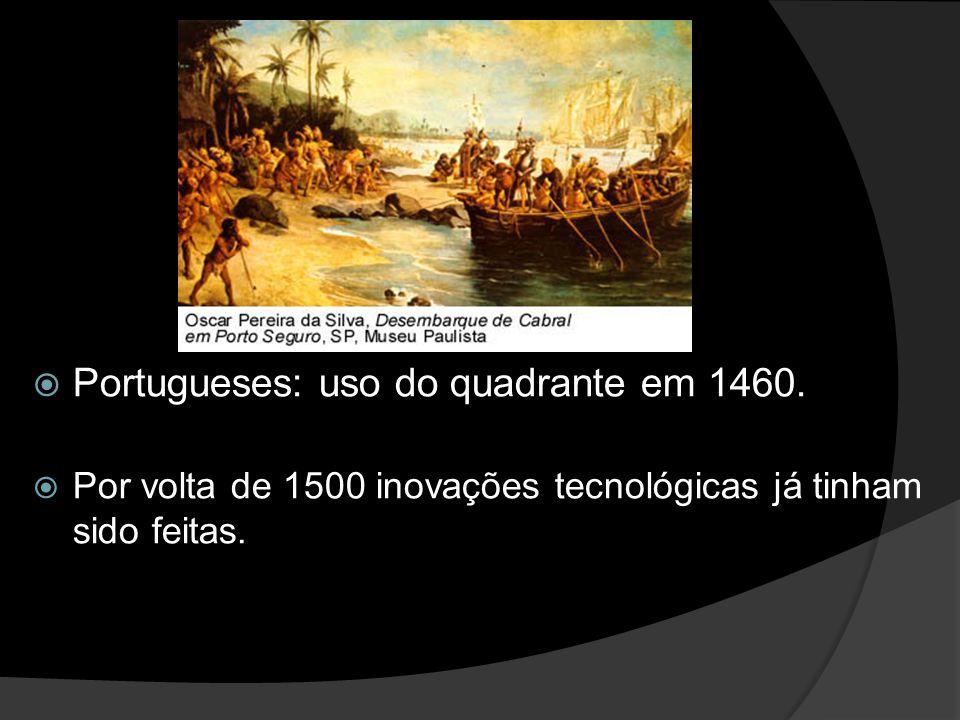 Portugueses: uso do quadrante em 1460.