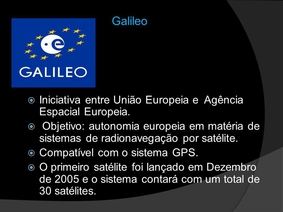 Galileo Iniciativa entre União Europeia e Agência Espacial Europeia.