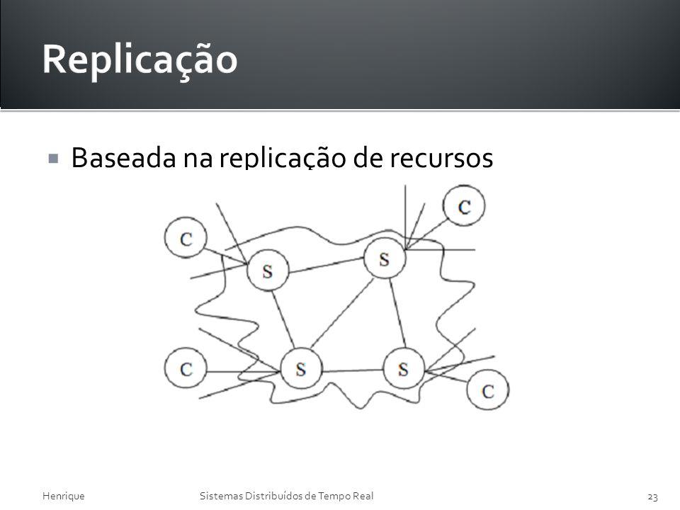 Replicação Baseada na replicação de recursos Henrique